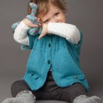 Free Knitting Pattern for a Baby Jacket with Short Sleeves