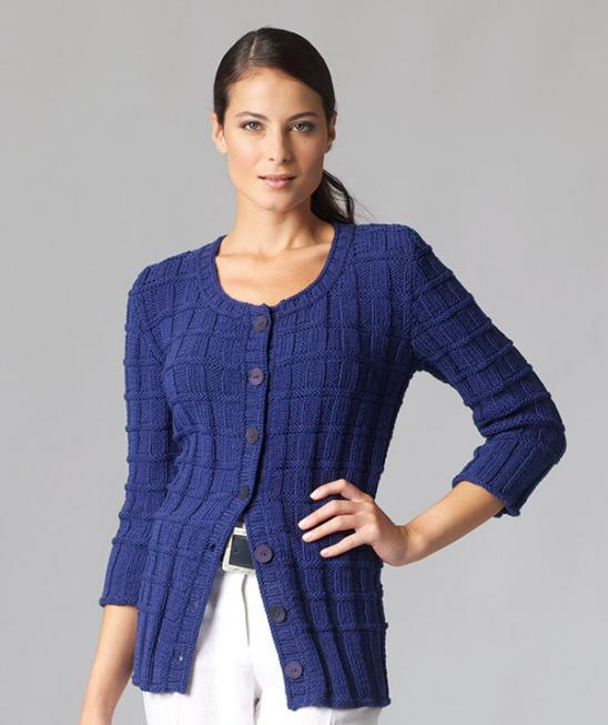 Free Knitting Pattern for a Basketweave Ladies Cardigan