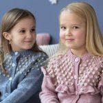 Free Knitting Pattern for a Bobble Yoke Girl's Cardigan