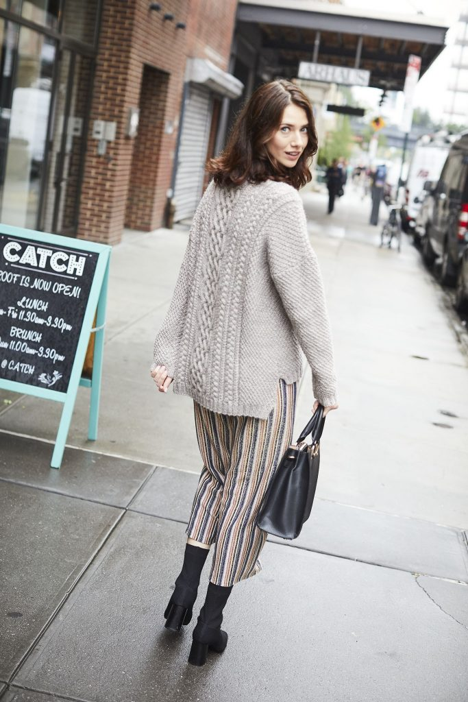 Free Knitting Pattern for a Cable Casey Sweater