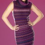 Free Knitting Pattern for a Cable Check Dress