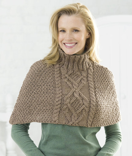 Ponchos Capes Knitting Bee 50 Free Knitting Patterns
