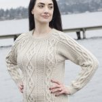 Free Knitting Pattern for a Cabled Sehome Pullover. Aran cabled ladies sweater to knit..