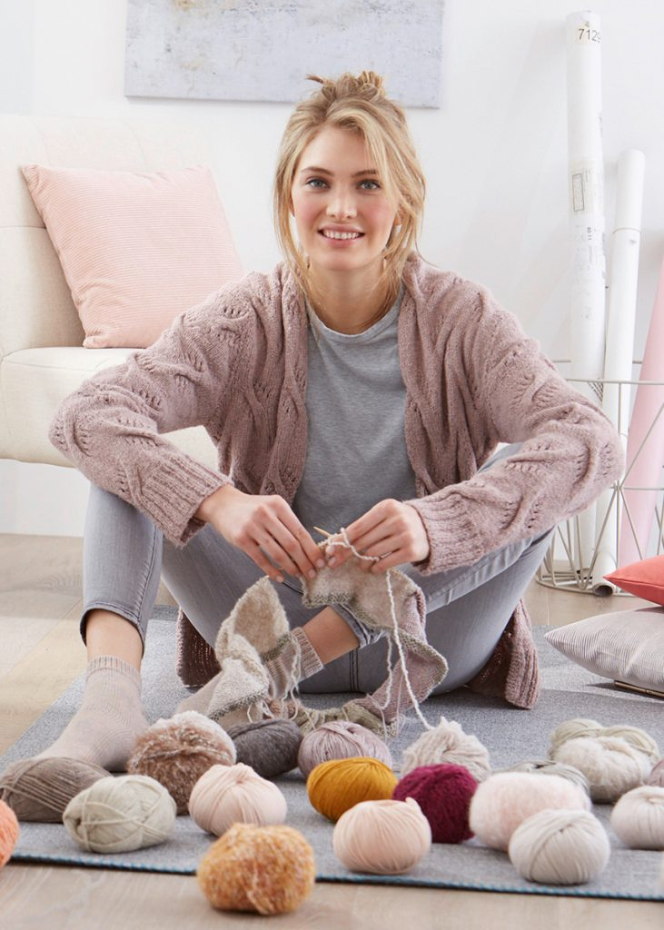 Free Knitting Pattern for a Cardigan with Cable Pattern