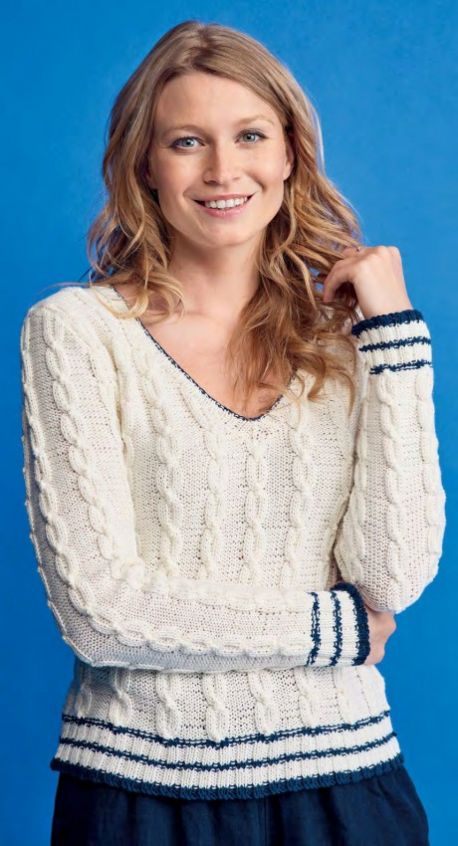 Free Knitting Pattern For A Chic Cable Sweater