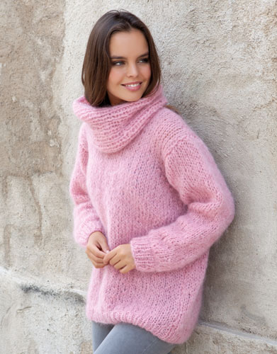 Free Knitting Pattern For A Chunky Oversized Turtleneck Sweater
