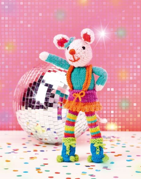 Free Knitting Pattern for a Disco Mouse Toy