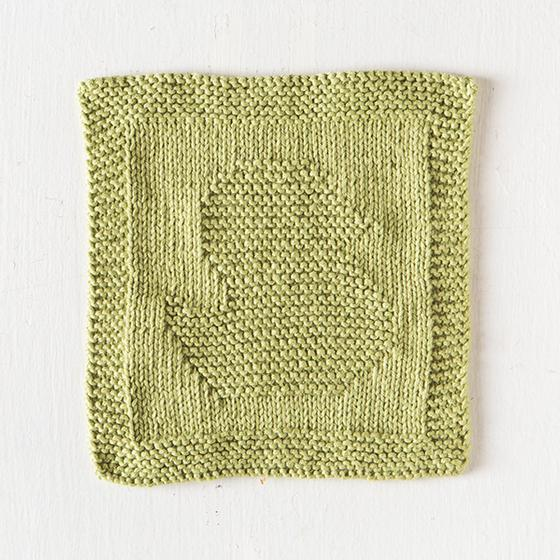 Free Knitting Pattern for a Duck Baby Cloth