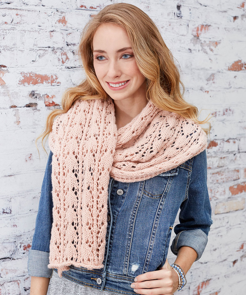 Free Knitting Pattern for a First-Timer Knit Lace Scarf