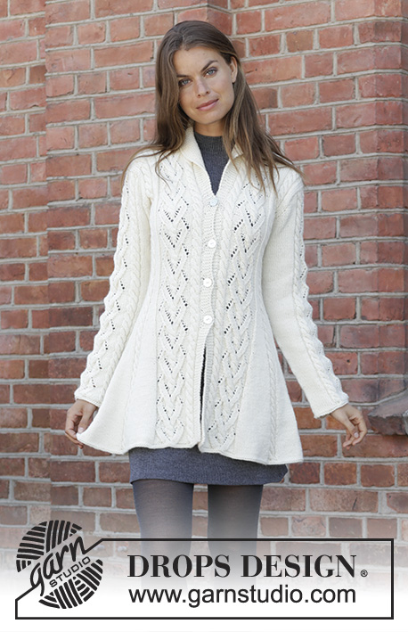 Free Knitting Pattern for a Fitted Lace Jacket