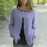 Free Knitting Pattern for a Garter and Cable Raglan Cardigan
