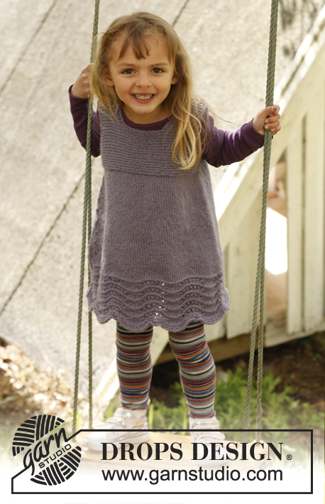 Free Knitting Pattern for a Girl's Dress Bluebelle