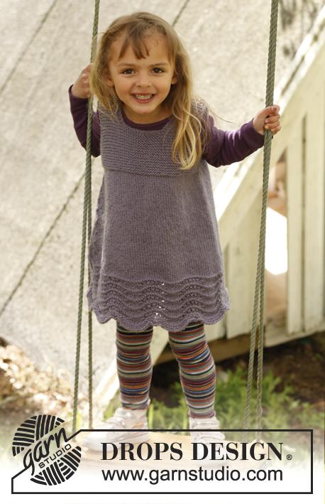 Free Knitting Pattern for a Girl's Dress Bluebelle