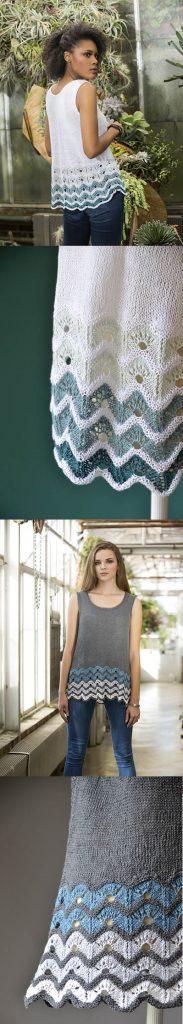 Free Knitting Pattern for a Gradiate Tank