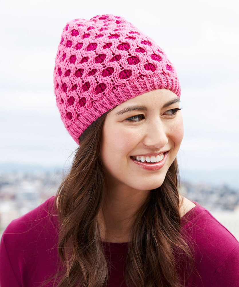 Free Knitting Pattern for a Honeycomb Cable Hat Beanie