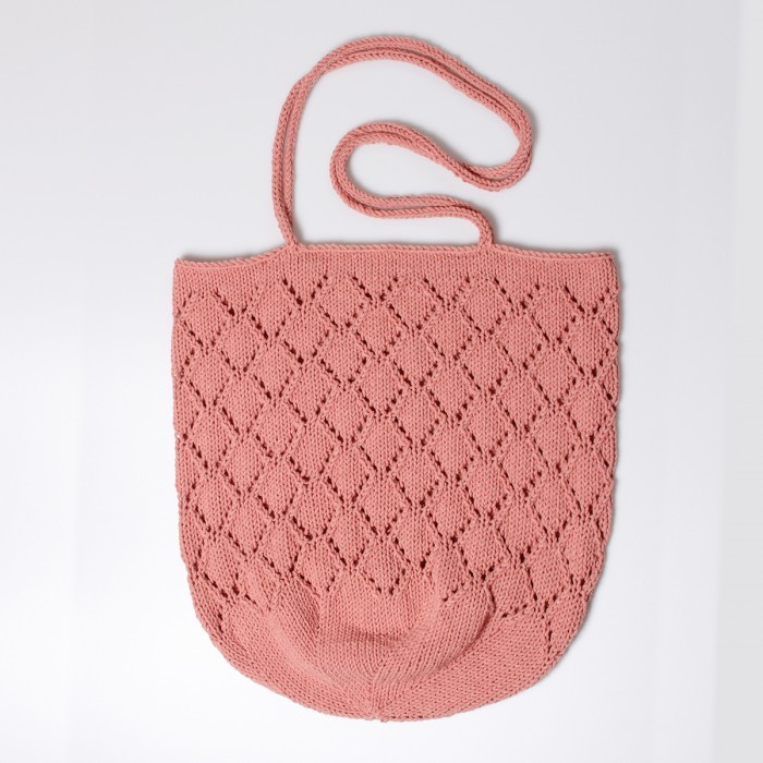 Free Knitting Pattern for a Lace Sunrise Beach Bag