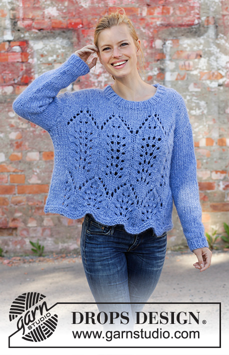 Free Knitting Pattern for a Lace Sweater Cathedral Windows ... fd3aa7c09