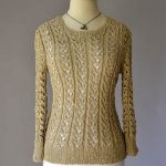 Free Knitting Pattern for a Lace Sweater Just Breathe. All over lace pattern for a ladies fitted sweater.