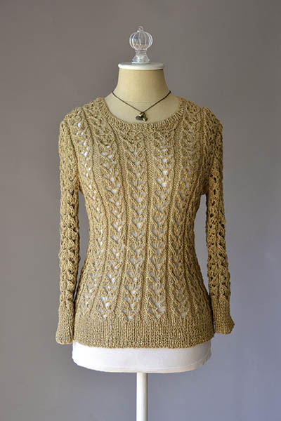 Free Free Ladies Lace Sweater Knitting Pattern Patterns