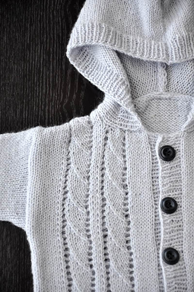 Free Knitting Pattern for a Little Hoodie