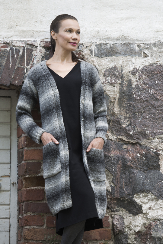 Free Knitting Pattern for a Long Cardigan for Women