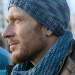 Free Knitting Pattern for a Men's Hat and Infinity Scarf