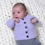 Free Knitting Pattern for a Pearl Baby Jacket