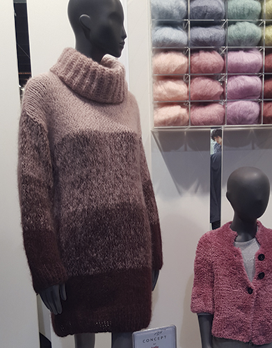 Free Knitting Pattern for a Polo Neck Dress Woman