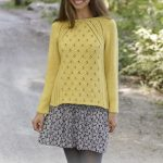 Free Knitting Pattern for a Raglan Lace Sweater Canari
