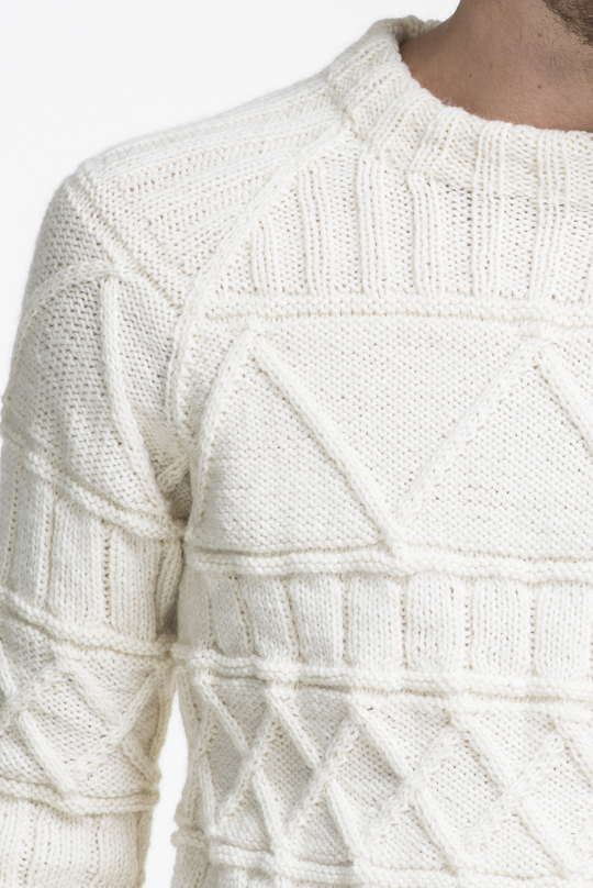 Free Knitting Pattern for a Raglan and Cable Men's Sweater