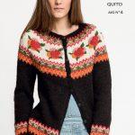 Free Knitting Pattern for a Rose Fair Isle Yoke Cardigan