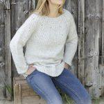 Free Knitting Pattern for a Round Yoke Sweater Fritid