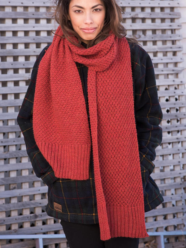 Free Knitting Pattern for a Scarf Quinn. Easy textured scarf knitting pattern.