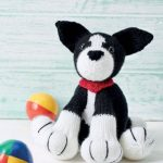 Free Knitting Pattern for a Border Collie Dog
