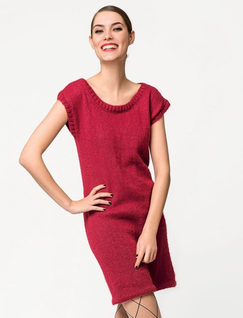 Free Knitting Pattern for a Simple Knit Dress