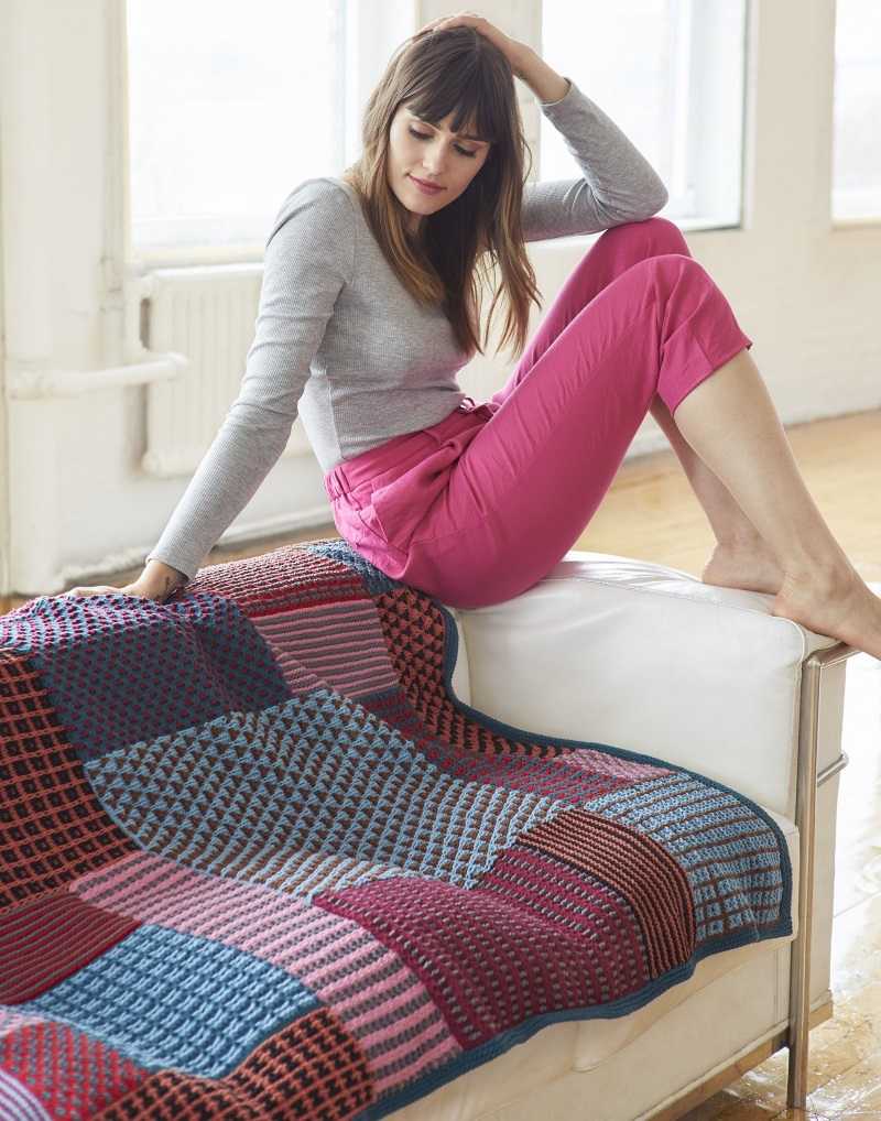 Free Knitting Pattern for a Slip Stitch Afghan