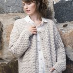 Free Knitting Pattern for a Textured Cardigan for Women