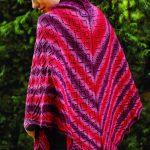 Free Knitting Pattern for a Triangular Diamond Lace Shawl