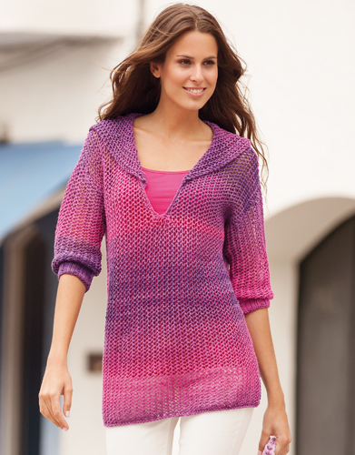 Free Knitting Pattern for a Woman's Spring Sweater