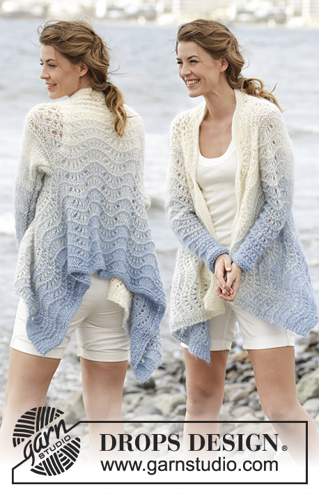 Free Knitting Pattern for a Wave Pattern Cardigan