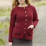 Free Knitting Pattern for a Winter Wine Cardigan