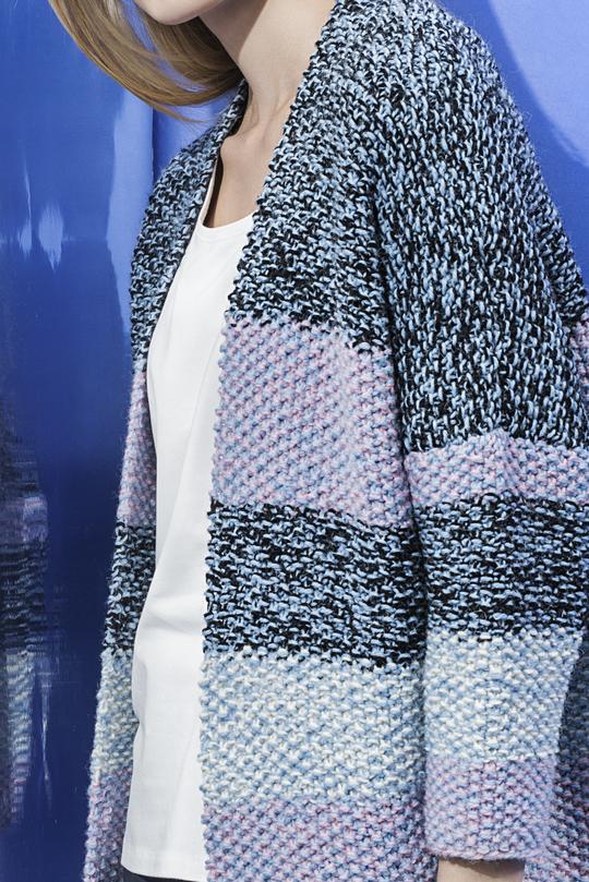 Free Knitting Pattern For A Woman S Moss Stitch Cardigan