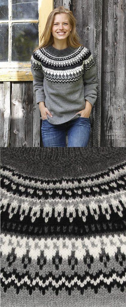 4a76f0ec4cbc Free Knitting Pattern for a Women s Sweater Night Shades ⋆ Knitting Bee