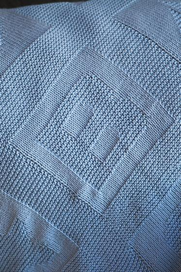 Free Knitting Pattern for an ABC Baby Blanket