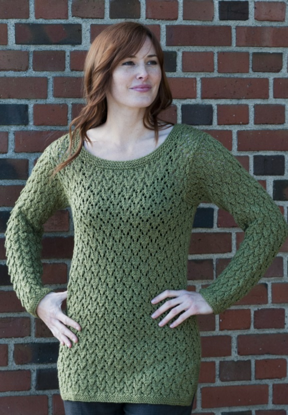 Free Knitting Pattern for an All Over Lace Tunic