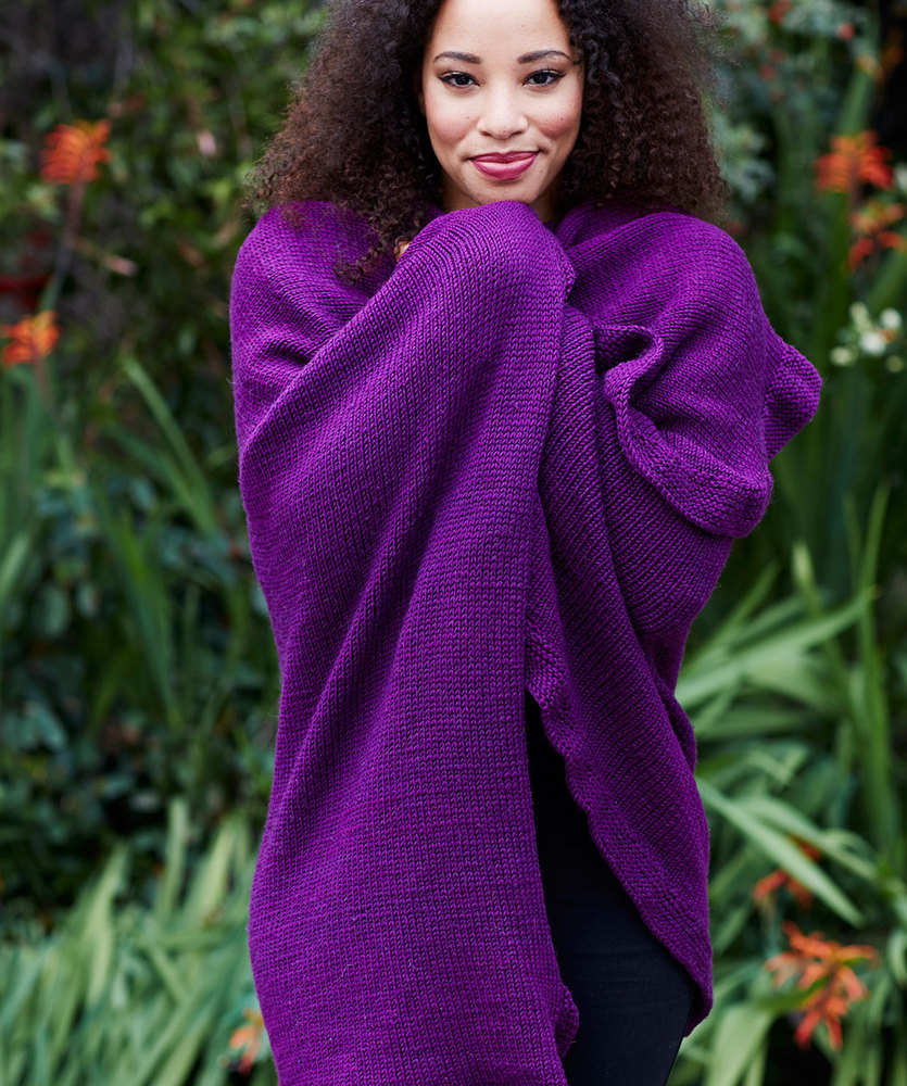 Free Knitting Pattern for an Effortlessly Chic Ruana ⋆ Knitting Bee 5a16cb0f0f