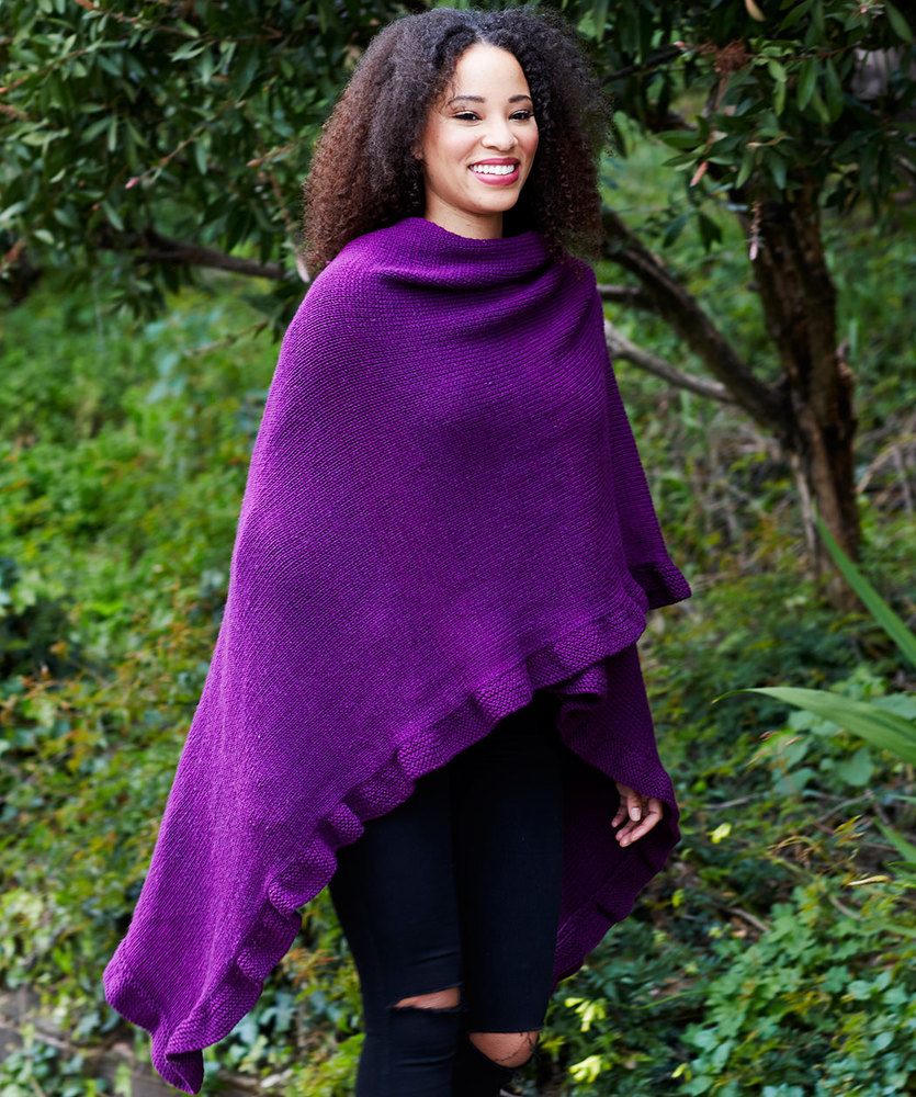 Free Knitting Pattern for an Effortlessly Chic Ruana