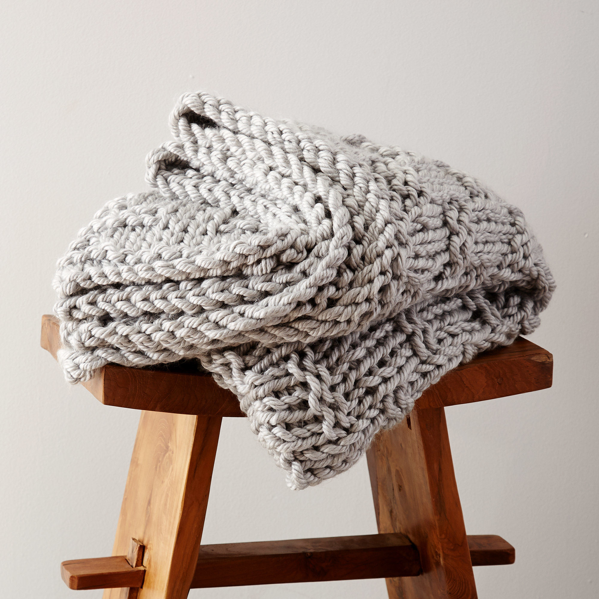Free knitting pattern for a chunky knit blanket for ...