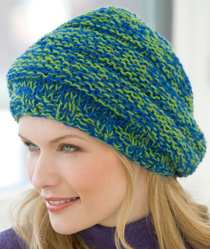 Free and easy slouchy hat pattern to knit