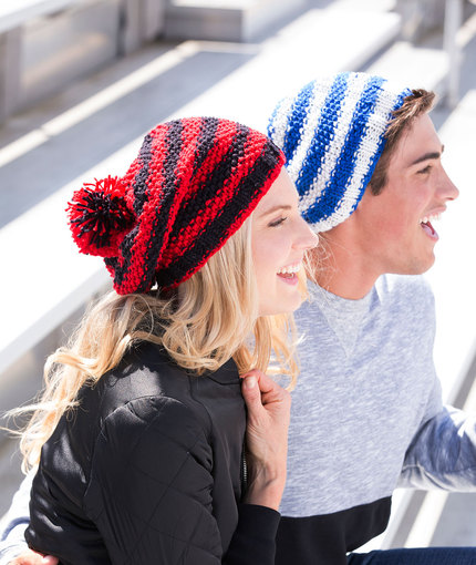 Free knitting pattern for a unisex slouchy hat